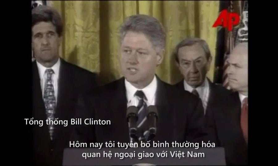 Việt - Mỹ bình thường hóa quan hệ ngày 11/7/1995