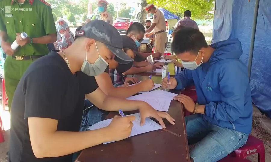 Quảng nam kiểm soát người từ Đà Nẵng đi vào