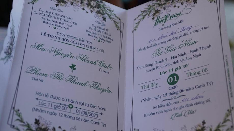 Nửa giờ vận động hoãn tiệc cưới