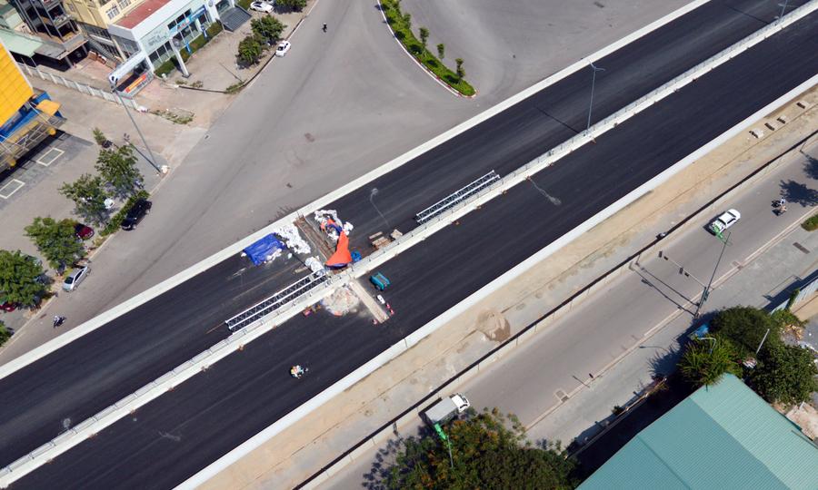 Cầu cạn 5.000 tỷ đồng ở thủ đô nhìn tư trên cao