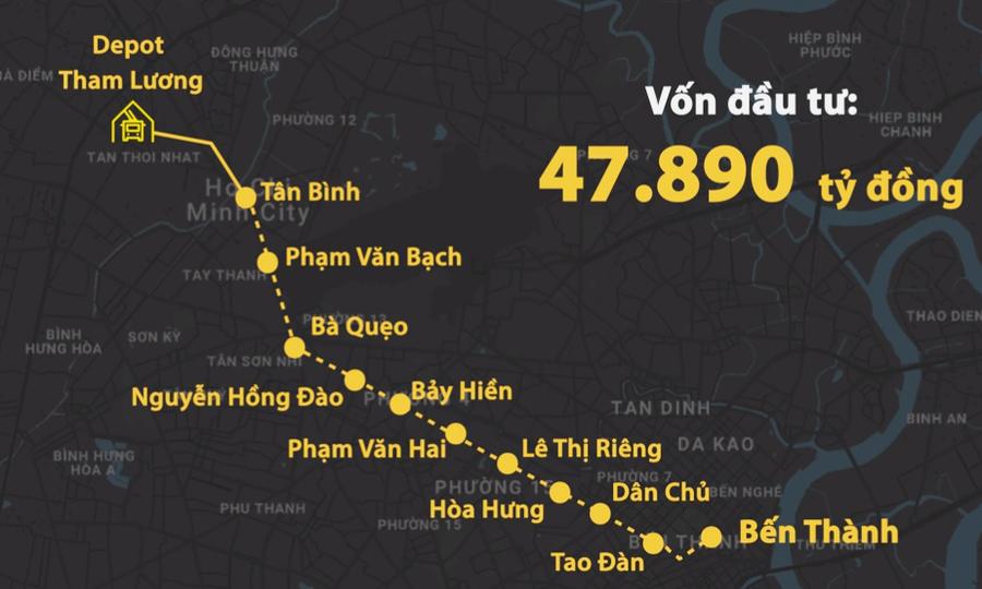 Giải tỏa 602 căn nhà để thi công tuyến metro Số 2