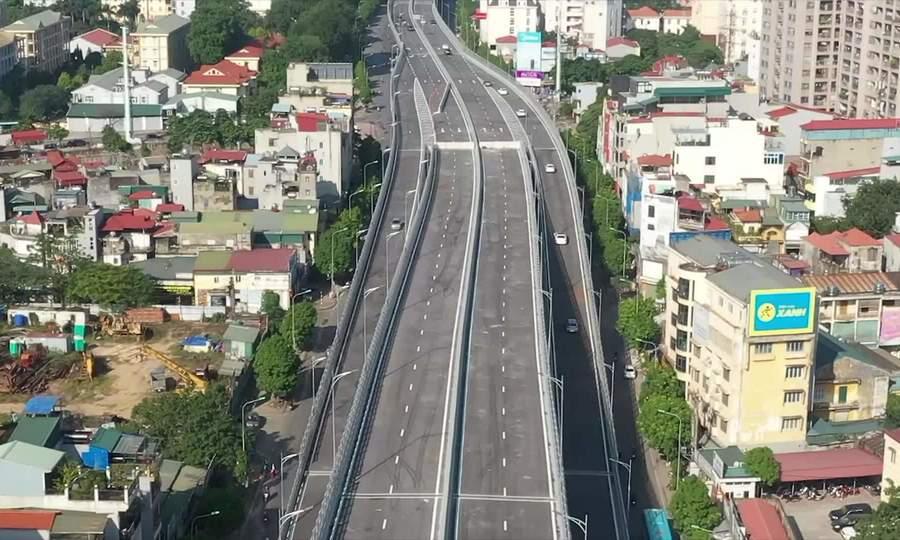 Cầu cạn Vành đai 2 Hà Nội thông xe