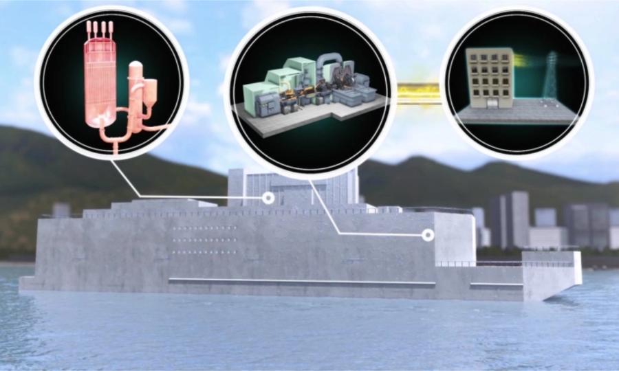 Mô hình nhà máy điện hạt nhân nổi của Đan Mạch