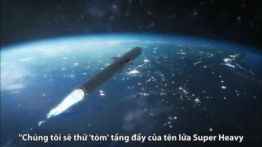 Kế hoạch 'tóm' tầng đẩy tên lửa giữa không trung của SpaceX