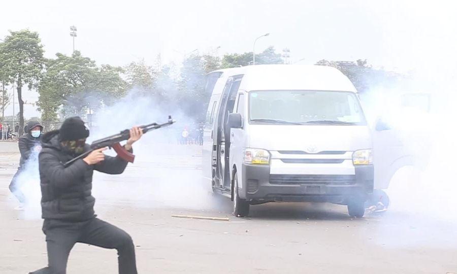 Cảnh vệ diễn tập phương án chống khủng bố