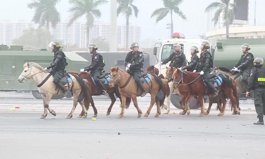 Đoàn CSCĐ Kỵ Binh lần đầu diễn tập chống bạo loạn