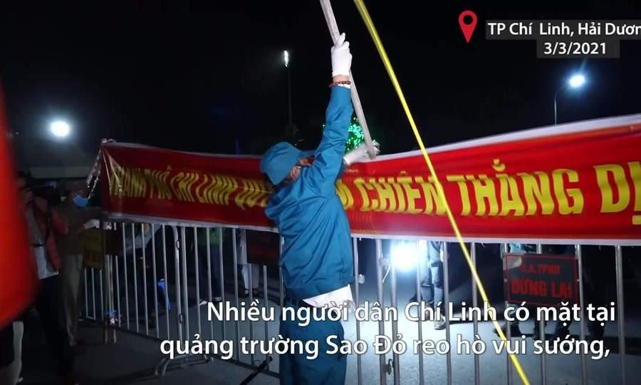Người dân TP Chí Linh đón giao thừa lần 2
