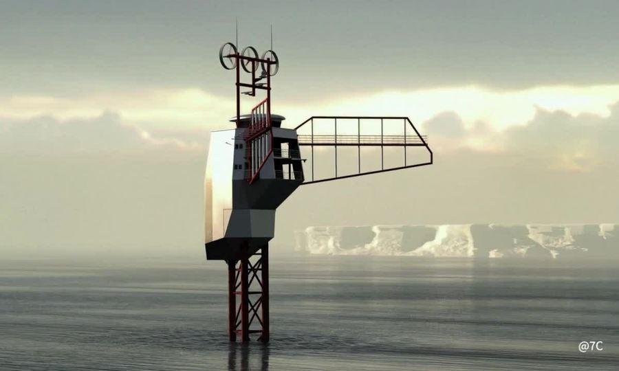 Thiết kế tàu nghiên cứu hải dương 'dựng đứng'