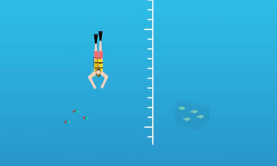 Tác động lên cơ thể người khi lặn sâu 100 m