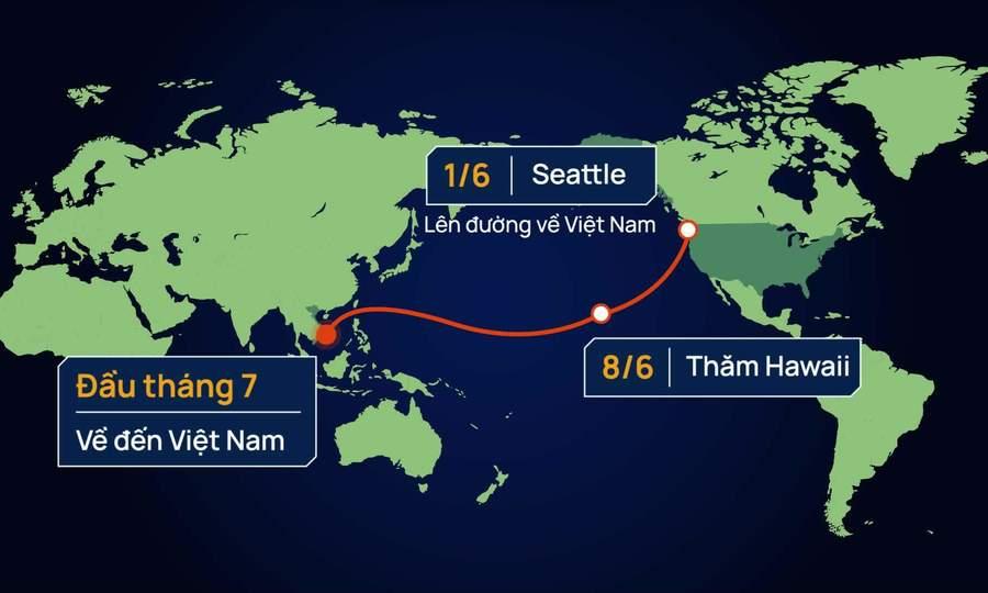Một tháng từ Mỹ về Việt Nam của tàu cảnh sát biển 8021