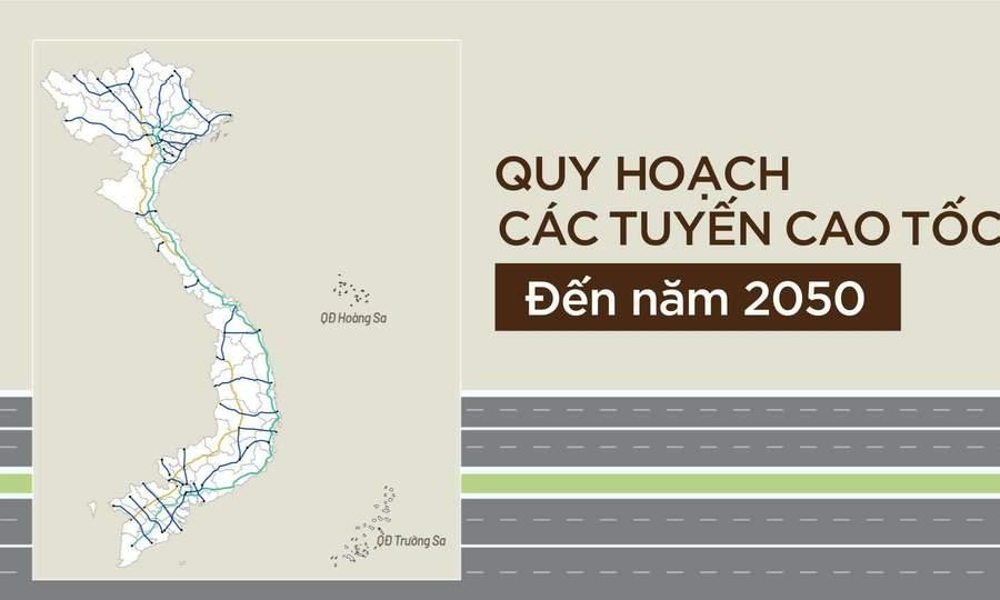 Quy hoạch các tuyến cao tốc đến 2050